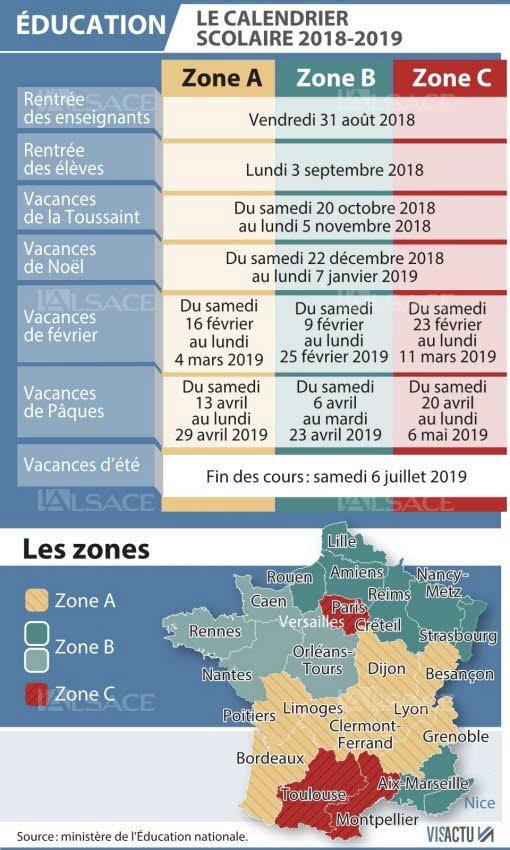 calendrier 2019 2020 carte